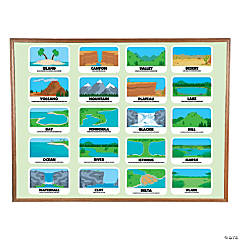 Landform Mini Bulletin Board Set