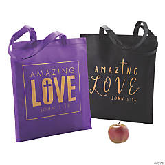 Large Amazing Love Tote Bags