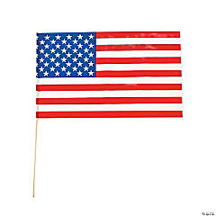 Large American Flags Clip Strip