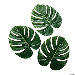 Large Artificial Monstera Leaves