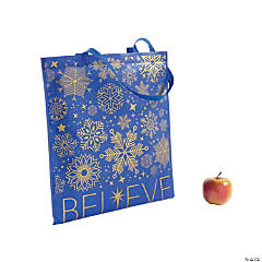 Large Believe Tote Bags