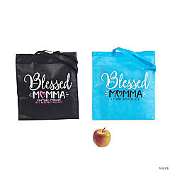 Large Blessed Momma Tote Bags