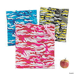 Large Bright Camo Tote Bags
