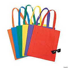Large Bright Tote Bags With Pockets