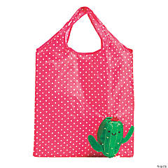Large Cactus Foldable Tote Bags