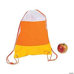 Large Candy Corn Drawstring Bags