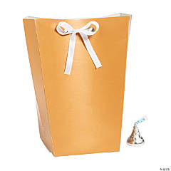 Large Copper Favor Boxes with Ribbon
