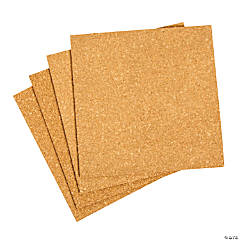 Large Craft Cork Square Tiles
