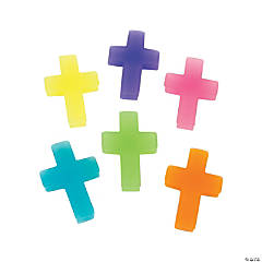 Large Cross Erasers - 24 Pc.