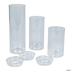 Large Cylinder Candle Holder Set