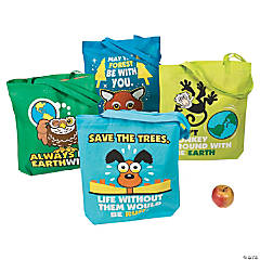 Large Earth Day Tote Bags