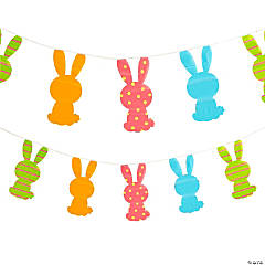 Large Easter Bunny Pennant Banner
