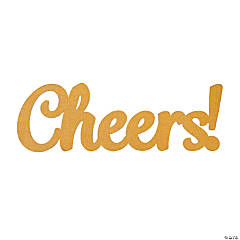 Large Glitter Cheers Sign