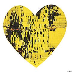 Large Gold Fringe Heart Cutout