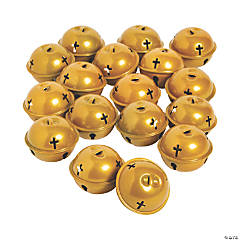 Large Gold Jingle Bells with Cross