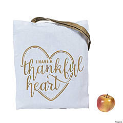 37083db61b Large I Have a Thankful Heart Tote Bags