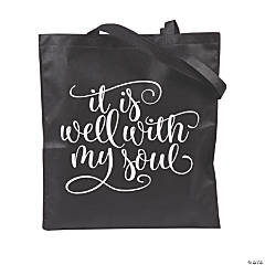 Large It Is Well with My Soul Tote Bags