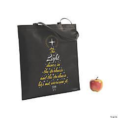 Large John 1:5 Tote Bags