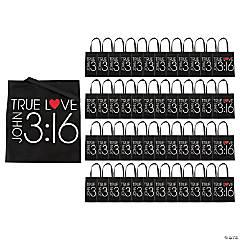 Large John 3:16 Tote Bags - 48 Pc.