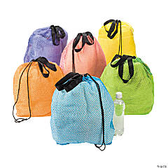 Large Mesh Beach Drawstring Bags