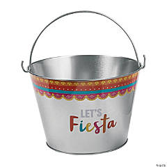 Large Metal Fiesta Pails