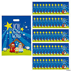 Large Nativity Plastic Goody Bags