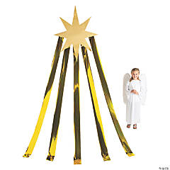 Large North Star Cutout with Streamers