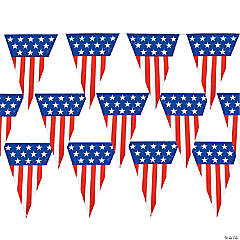 Large Patriotic Pennant Banner Clip Strip