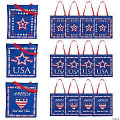 Large Patriotic Tote Bags