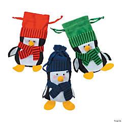 Large Penguin Drawstring Bags