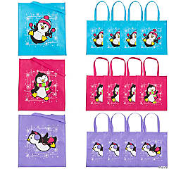 Large Penguin Tote Bags