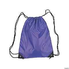 Large Purple Drawstring Bags