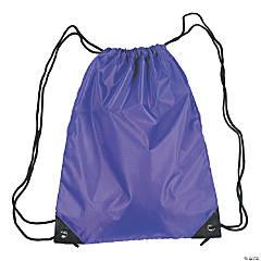 Large Purple Drawstring Bag