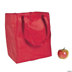 Large Red Shopper Tote Bags