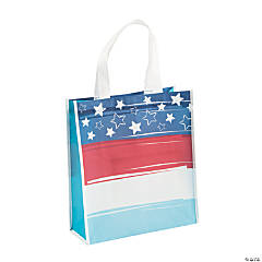 Large Red, White & Blue Parade Tote Bags