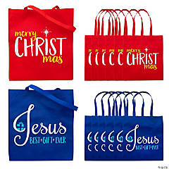 Large Religious Christmas Tote Bags
