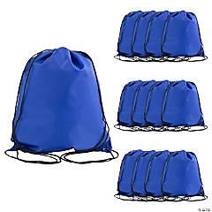 Large Royal Blue Drawstring Bags