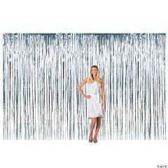 Large Silver Foil Fringe Door Curtain