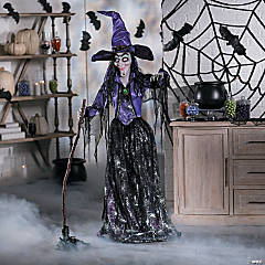 Large Spellbound Glam Witch with Light-Up Eyes Halloween Decoration