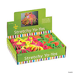 Large Vinyl Flashing Neon Stretchy Noodle Ball YoYos