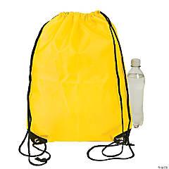 Large Yellow Drawstring Bags