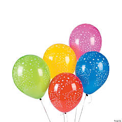 Latex Celebration Print Balloon Assortment