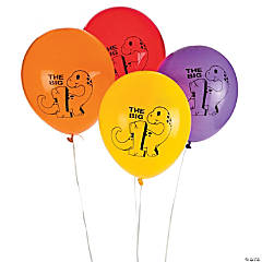 Latex Dino 1st Birthday Balloons