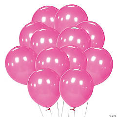 Latex Hot Pink Balloons