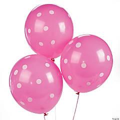 Latex Hot Pink Polka Dot Balloons