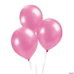 Latex Metallic Hot Pink Balloons