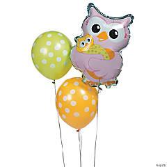 Latex Owl Baby Shower Balloon Assortment