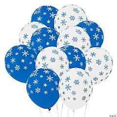 Latex Snowflake Balloons