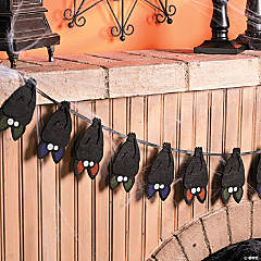 Layered Bat Garland Halloween Decoration