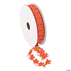 "Leaf-Shaped Die-Cut Ribbon - 3/4"""